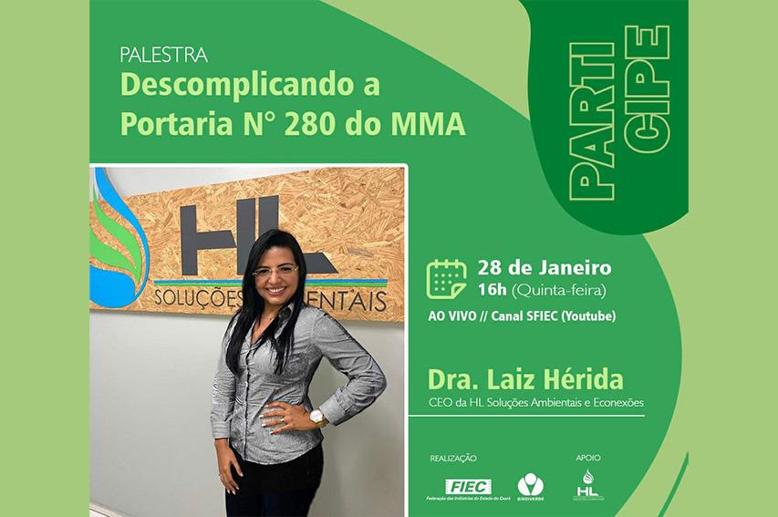 Sindiverde promove palestra sobre nova portaria do Ministério do Meio Ambiente
