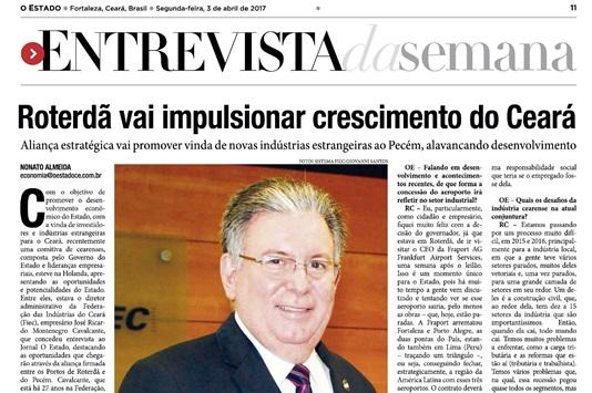 1dfcf38820 Indústria é destaque em série de matérias no jornal O Estado - IEL CE -  Instituto Euvaldo Lodi