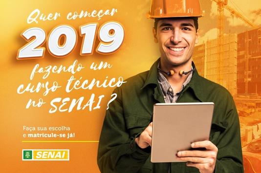 Resultado de imagem para SENAI abre matrículas para cursos técnicos em 2019